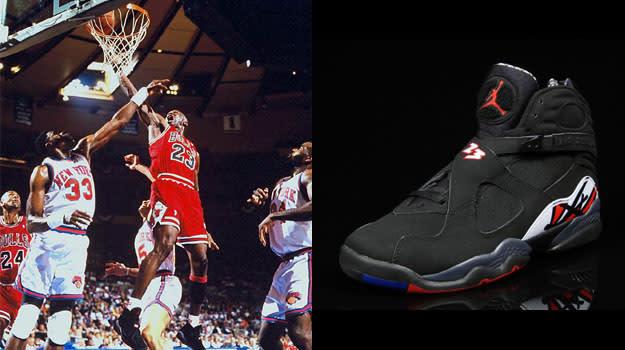 Michael Jordan in the Air Jordan VIII