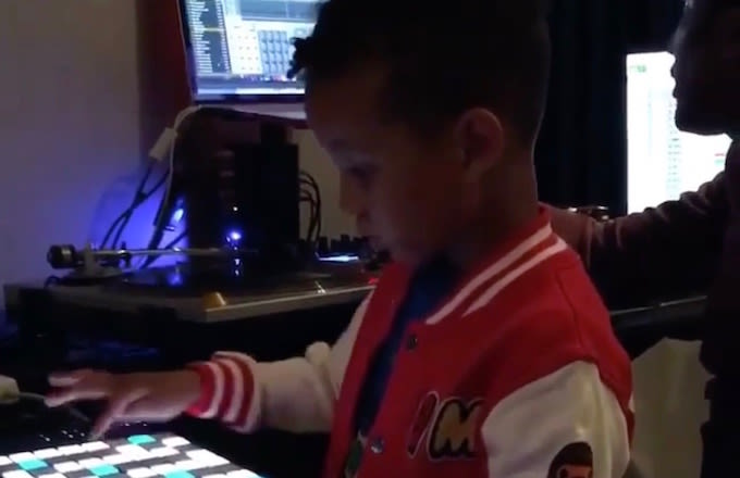 Swizz Beatz and Alicia Key's 5 Year Old Son is Back in the Studio Making Beats Alongide Q Tip news