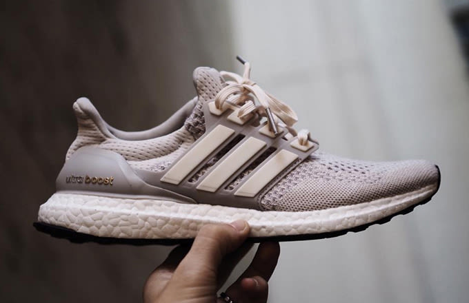 be66e611bc1b2 Adidas Ultra Boost Cream Chalk On Feet Adidasoutlettrainers.co.uk