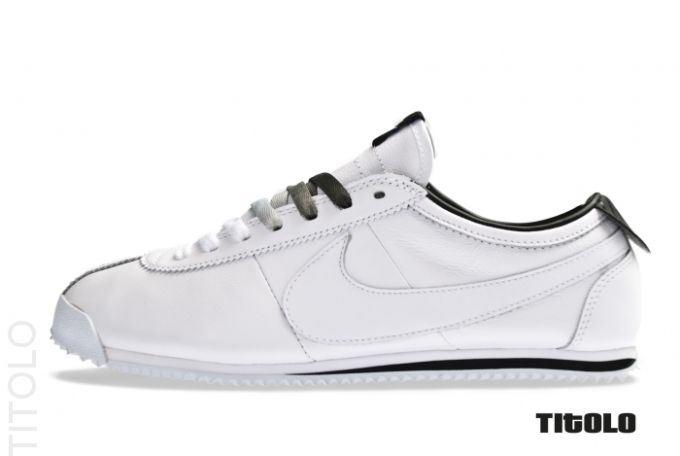 all white nike cortez shoes