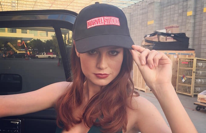 Image result for brie larson marvel hat