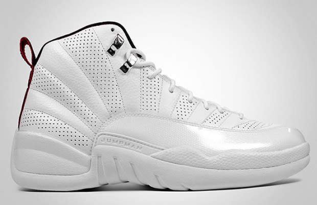 Mens Air Jordan Retro 12 Rising Sun White shoes