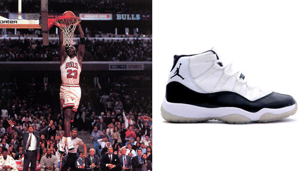 Michael Jordan in the Air Jordan XI