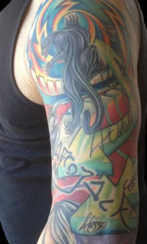 Skrillex 25 regrettable edm tattoos complex for Arm mural tattoos