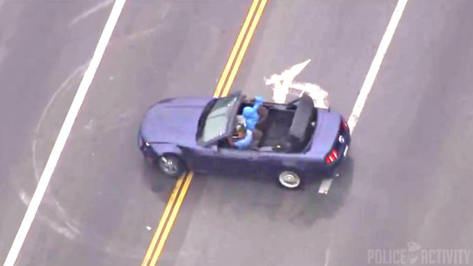 Hollywood pursuit suspects spin 'donuts' to taunt officers