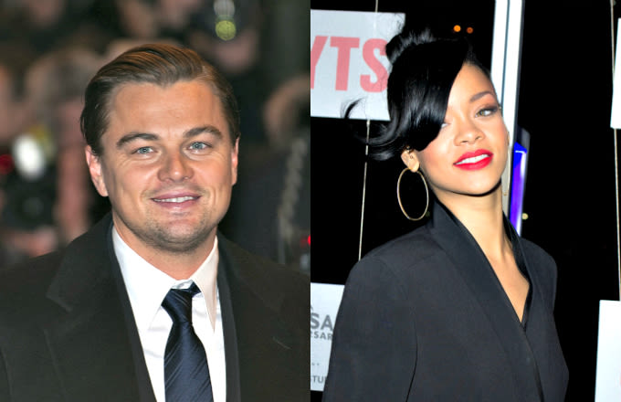 Leonardo DiCaprio and Rihanna Reportedly Spotted Whispering Into Each Others Ears news