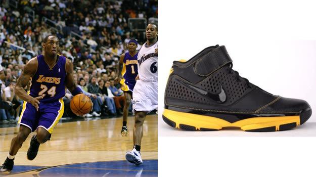 Kobe Bryant in the Nike Zoom Kobe 2