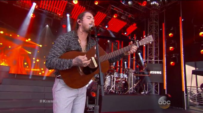 "Post Malone Decides to ""Go Flex"" on Jimmy Kimmel news"
