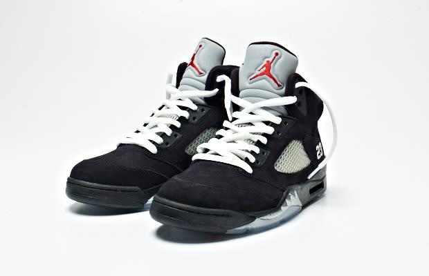 jordan 5 black white