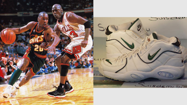 Gary Payton in the Nike Air Thrill Flight