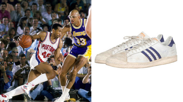 Kareem Abdul-Jabbar in Vintage adidas Low Tops