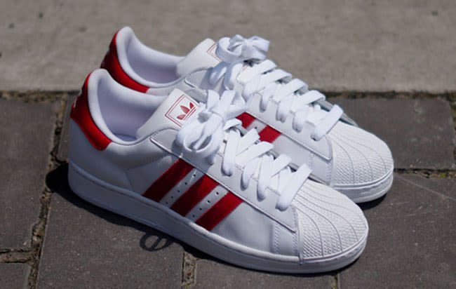 Adidas Superstar Red Stripes