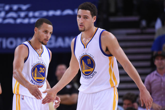 Klay Thompson and steph curry