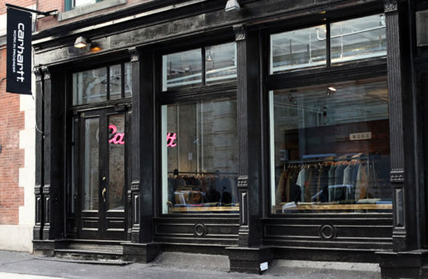 carhartt work in progress the 10 coolest stores in new york right now complex. Black Bedroom Furniture Sets. Home Design Ideas