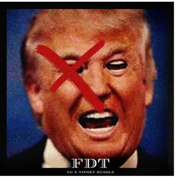 "Nipsey Hussle and YG Take Aim at Donald Trump on ""FDT"" news"