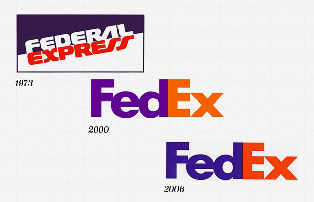 Fedex logo over the years