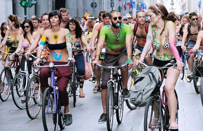 Cyclist Kicked Out of World Naked Bike Ride After Getting