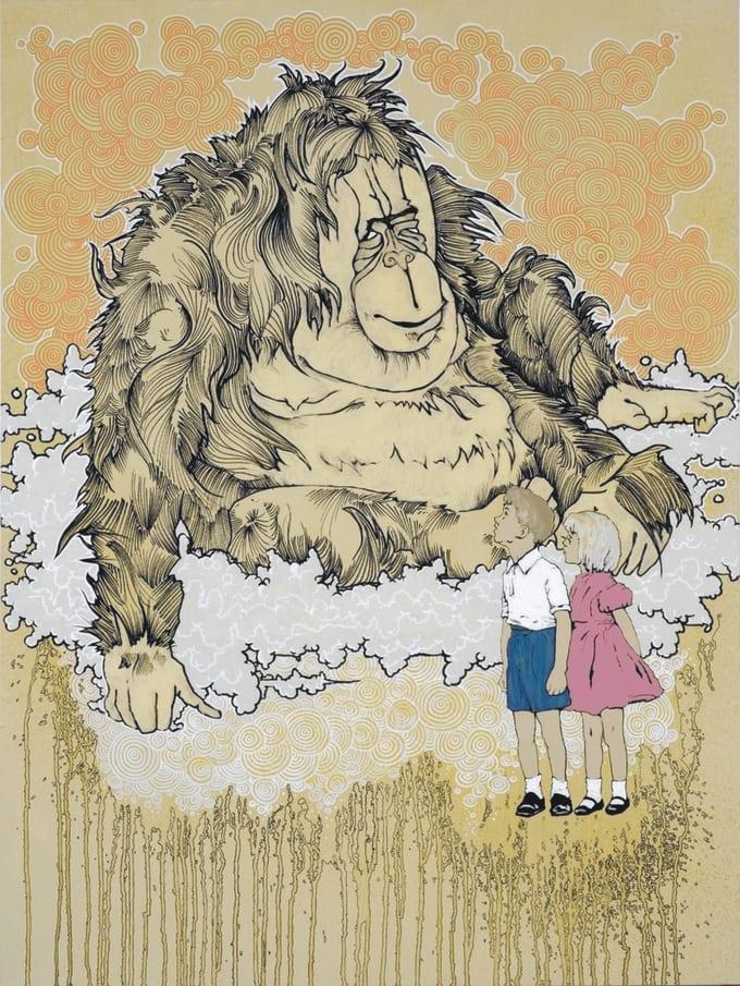 Orangutan portfolio review incubus singer brandon boyd for Brandon boyd mural