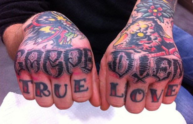 True love hate or love the 10 best knuckle tattoos for True culture tattoos