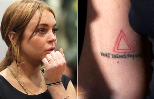 lindsey lohan celebrity women tattoo fails complex
