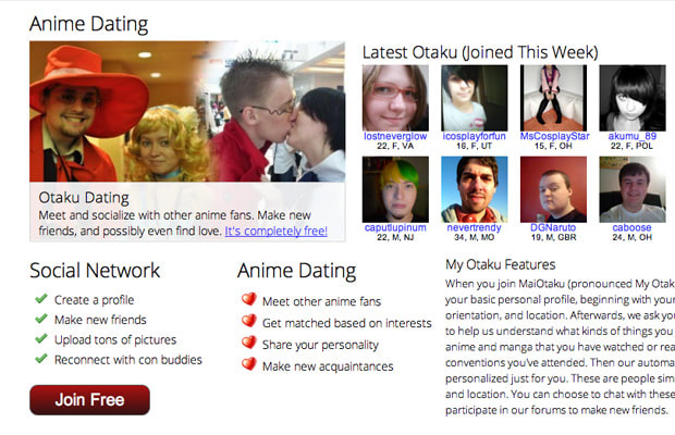 Free anime fan dating sites