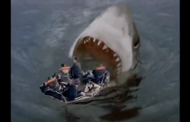 Megalodon Life Raft - Gallery: The Best Shark Attacks In Movies | Complex