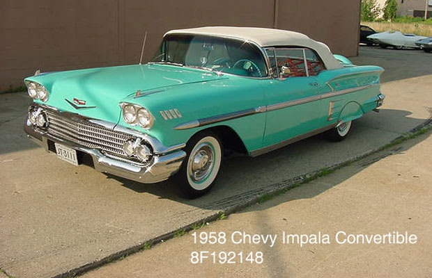 1958 chevrolet bel air impala convertible the coolest General motors convertibles