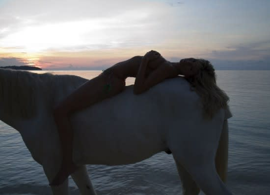 Something is. sexy naked equestrian girls