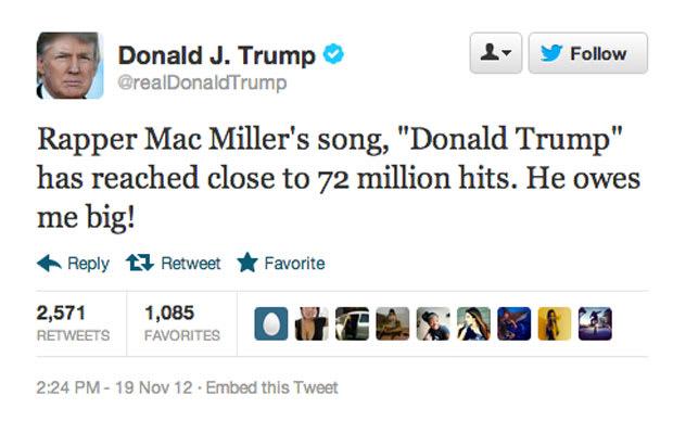 Mac Miller Donald Trumps 50 Stupidest Tweets Complex