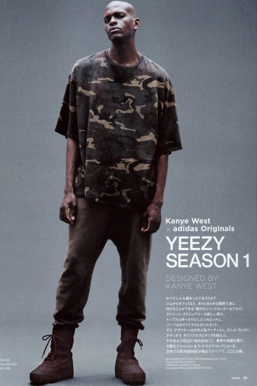 Kanye West's Yeezy Season 1 Featured in 'SENSE' Editorial ...