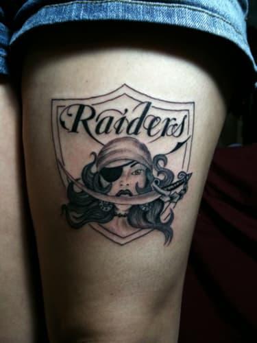 8 the 10 best raider nation tattoos complex for Raider nation tattoos