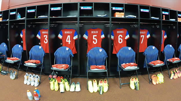 USMNT dressing room