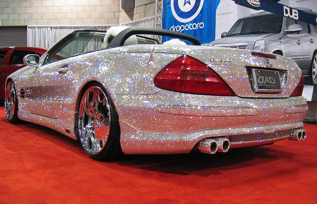 Diamond Encrusted Car: Mercedes-Benz SL600 Roadster