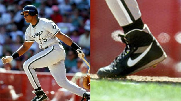 Frank Thomas in Vintage Nike Baseball Cleats