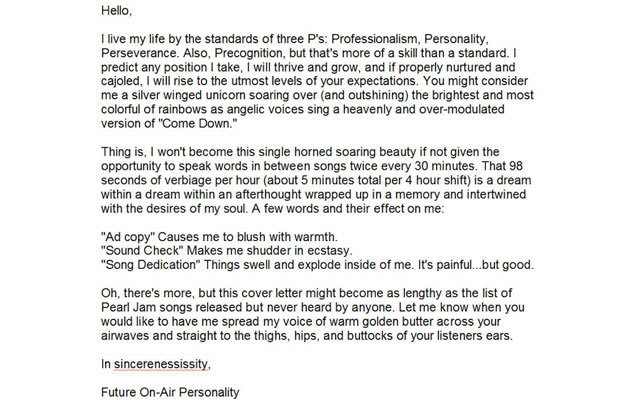 the three p 39 s cover letter 10 funny cover letters we