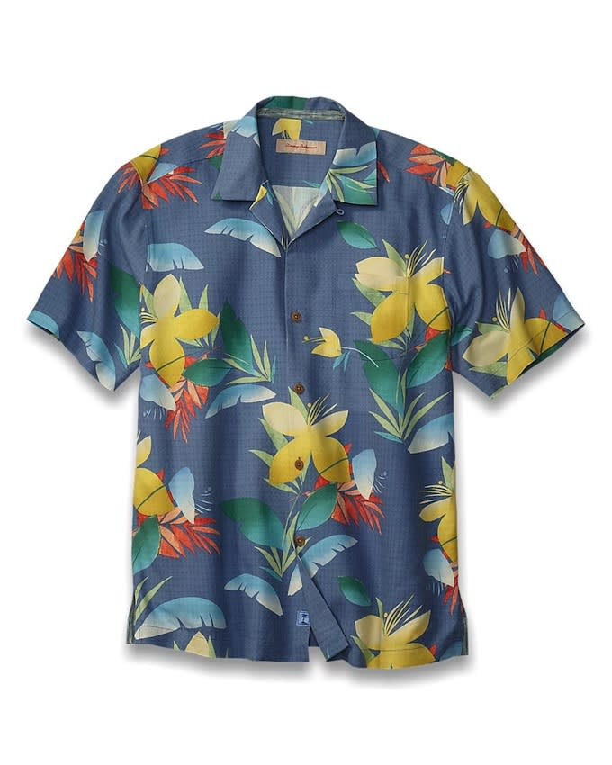 Tommy Bahama International Fit Camp Shirt 15 Great