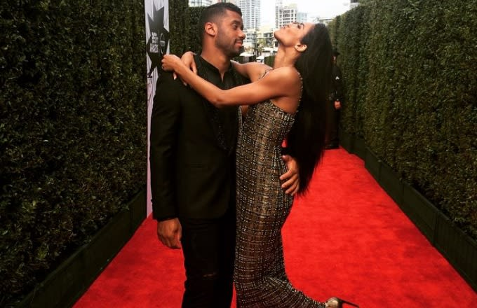 seahawks qb russell wilson might be dating pop singer ciara