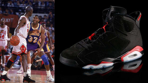 Michael Jordan in the Air Jordan VI