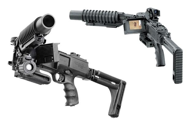 corner shot 40mm grenade launcher   10 crazy high tech