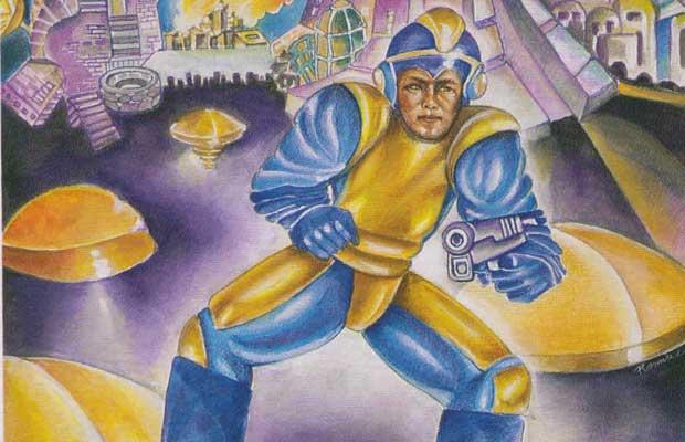 Mega man 39 s original box art the 25 funniest moments in for Megaman 9 portada