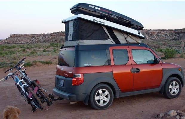 honda element with an ecamper the 10 best cars to live in complex. Black Bedroom Furniture Sets. Home Design Ideas