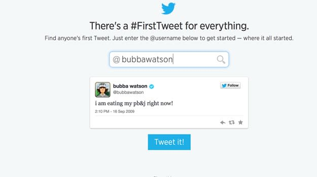 Bubba_Watson_First_Tweet