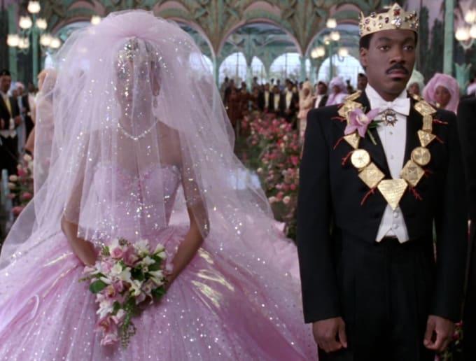 Lisa 39 s wedding dress 2 coming to america costume design for Coming to america wedding dress