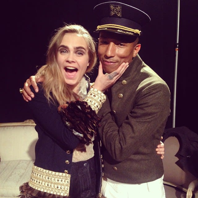 Cara delevingne and pharrell for
