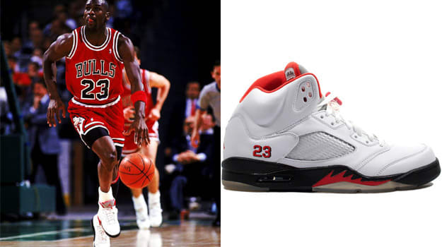 Michael Jordan in the Air Jordan 5