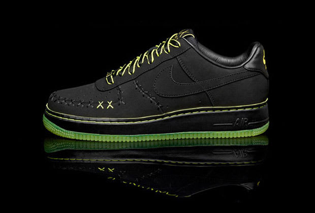 Nike Air Force 1 Black Denim Junior Noir 38