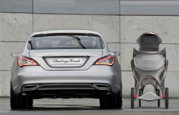 The mercedes benz abeo luxury baby pram concept complex for Mercedes benz baby pram