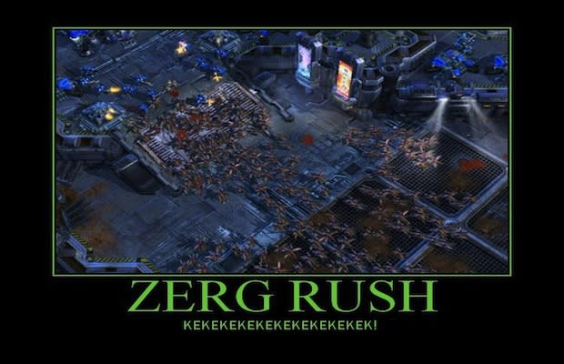 how to play zerg rush sc2