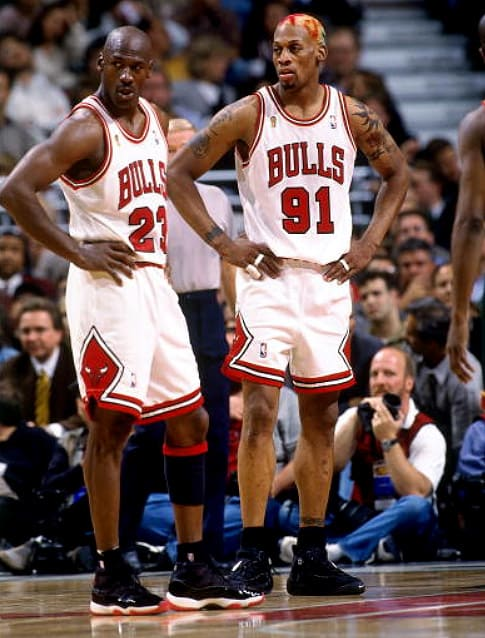 Michael Jordan and Dennis Rodman - 30 Classic Pictures of ...