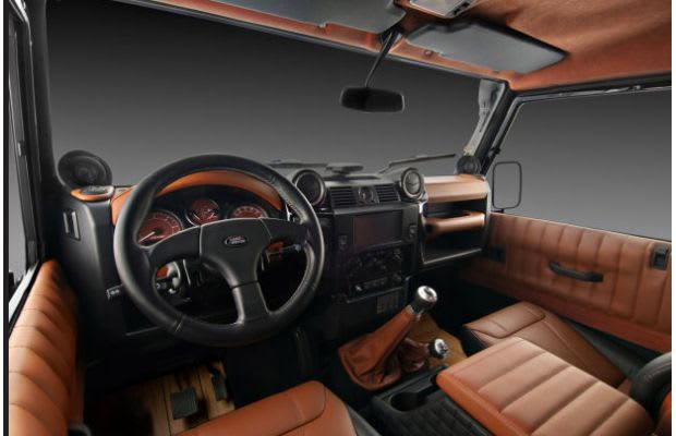 land rover defender the 50 most outrageous custom car interiors complex. Black Bedroom Furniture Sets. Home Design Ideas